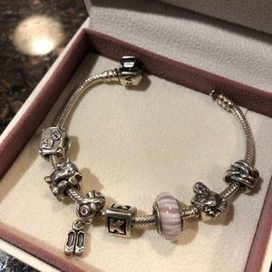 Pandora sterling silver ballet shoe **charm only**